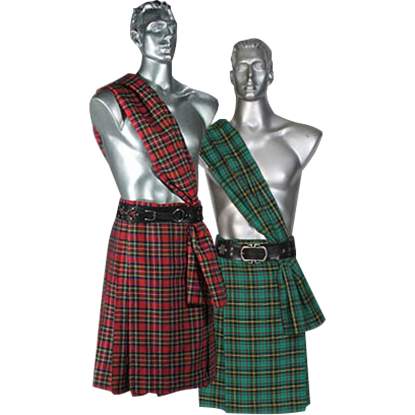 Men's Scottish Kilt with Scarf