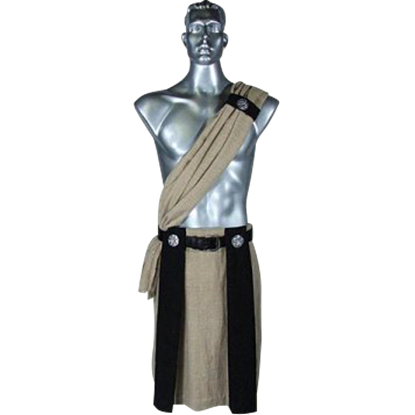 Roman Kilt With Scarf