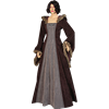 Fur Trimmed Medieval Dress with Hood