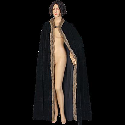 Fur Trimmed Cloak