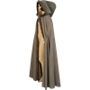 Fur Trimmed Cloak with Hood