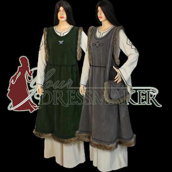 Fur Trimmed Norse Overdress