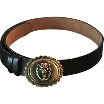 Lion Buckle Belt