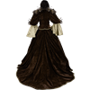 Feathered Victorian Noble Dress with Train