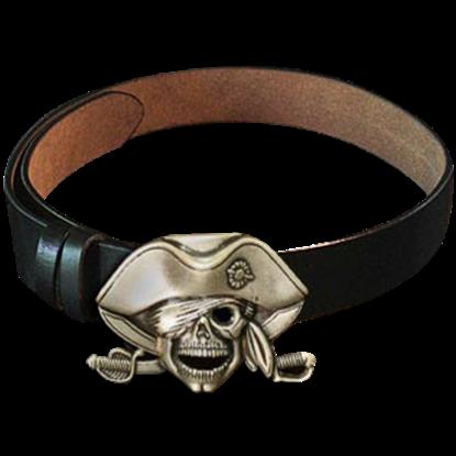 Pirate Skull Buckle Belt