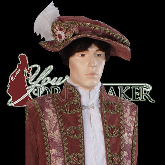 Mens Ornate Renaissance Hat