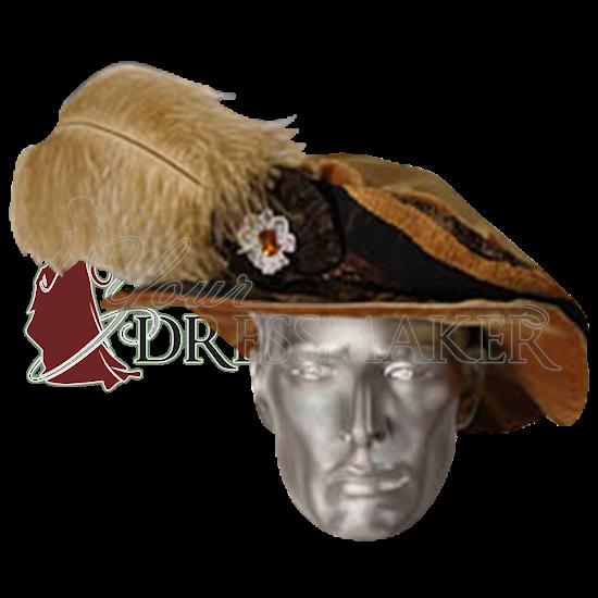 mens renaissance medieval hat headpiece fop