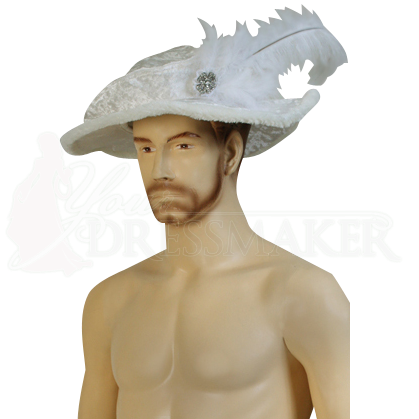 Mens Crushed Velvet Tudor Hat Mci 411 By Medieval And
