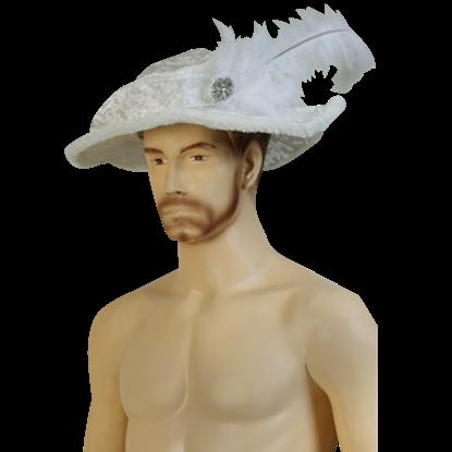 Mens Crushed Velvet Tudor Hat