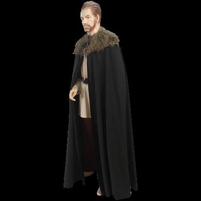 Medieval Fur Collar Cloak