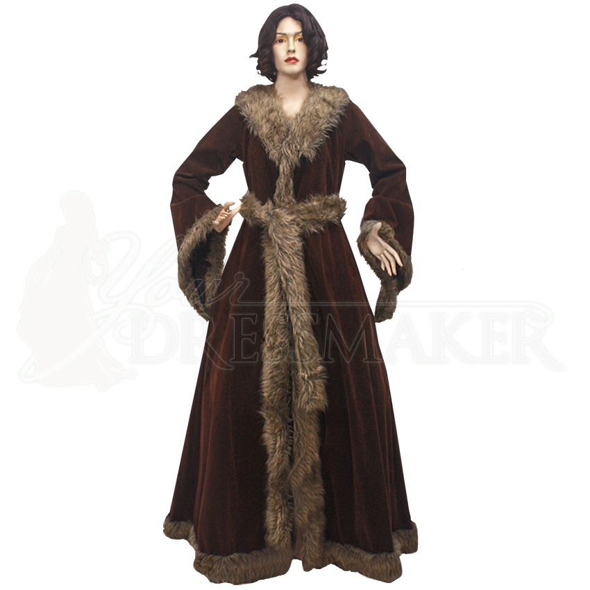 Womens Medieval Fur Trimmed Coat Mci 415 By Medieval And