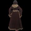 Womens Medieval Fur Trimmed Coat