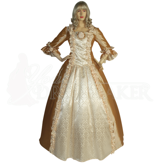 Taffeta Two Piece Renaissance Dress