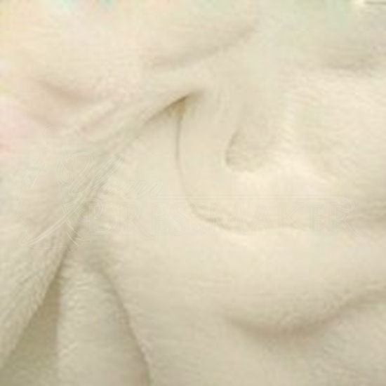 Faux Fur Swatch - Ivory (02)