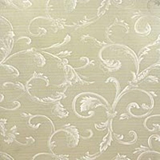 Brocade Fabric No 1 Swatch - Ivory (01)