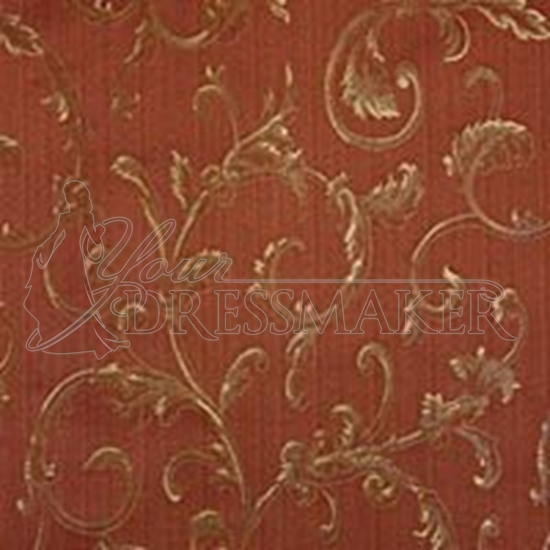 Brocade Fabric No 1 Swatch - Salmon (03)