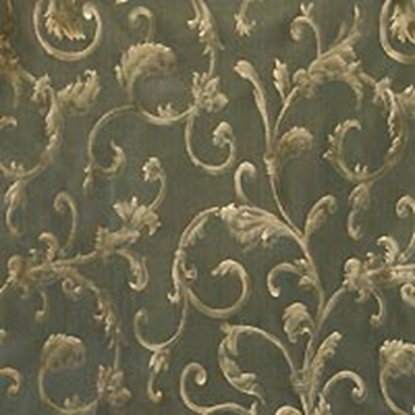 Brocade Fabric No 1 Swatch - Green (09)
