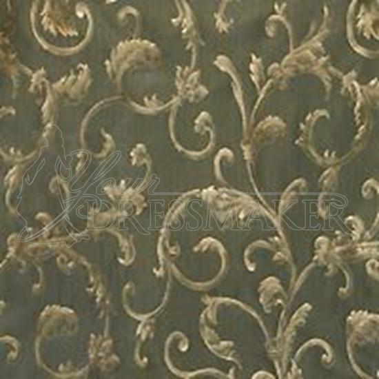 Brocade Fabric No 1 Swatch - Green (09)