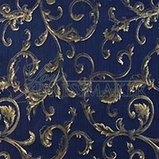 Brocade Fabric No 1 Swatch - Blue (13)