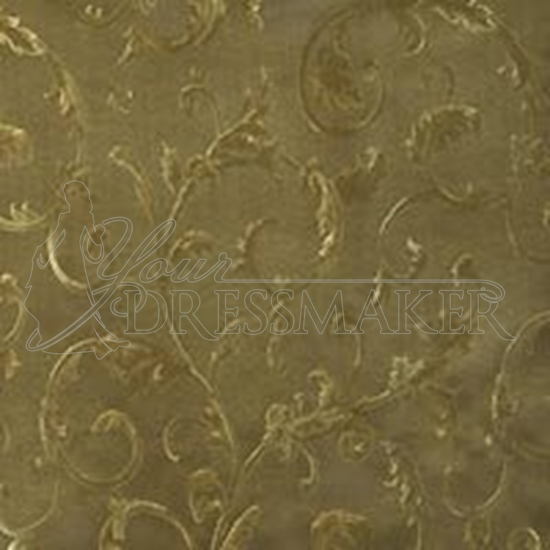 Brocade Fabric No 1 Swatch - Gold-Green (19)