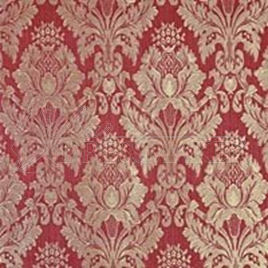 Brocade Fabric No 2 Swatch - Red (04)