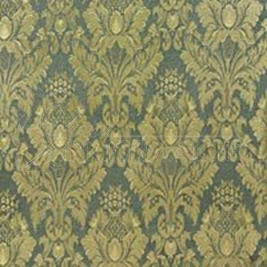 Brocade Fabric No 2 Swatch - Green (09)