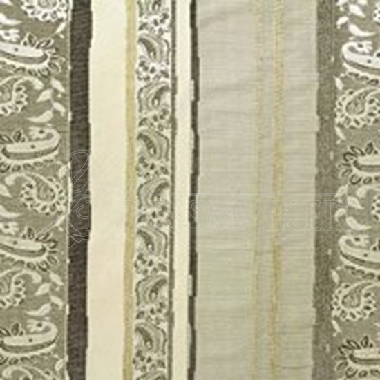 Brocade Fabric No 3 Swatch - Ivory (01)