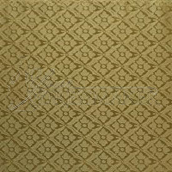 Brocade Fabric No 5 Swatch - Gold (05)