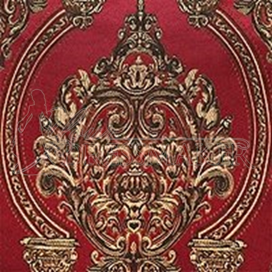 Brocade Fabric No 7 Swatch - Red Burgundy (03)