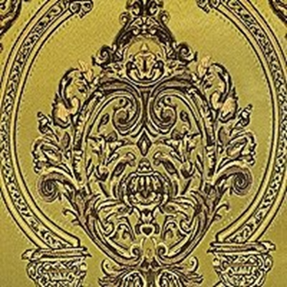 Brocade Fabric No 7 Swatch - Gold (18)