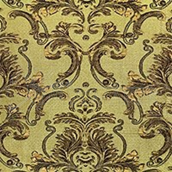 Brocade Fabric No 10 Swatch - Gold-Green (19)