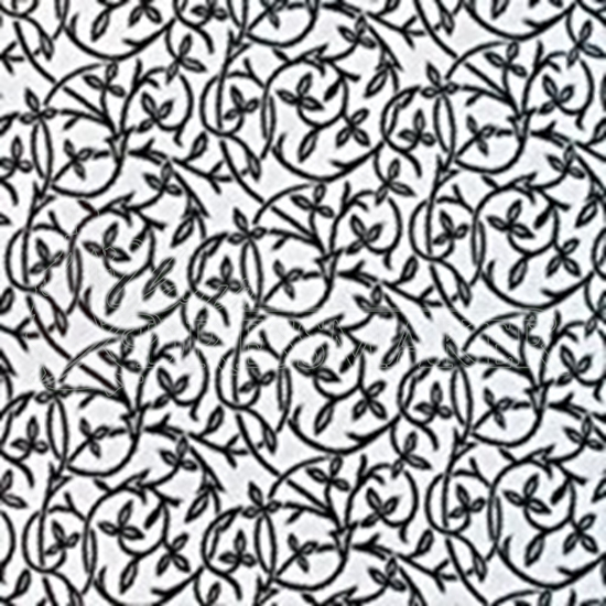 Jacquard Fabric No 11 Swatch - Black-White (01)