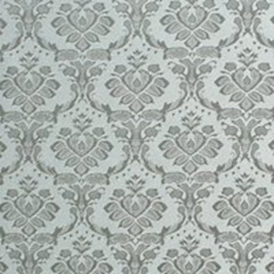 Brocade Fabric No 14 Swatch - Silver (10)