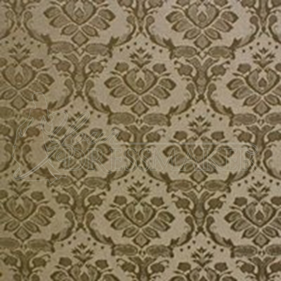 Brocade Fabric No 14 Swatch - Gold-Brown (19)