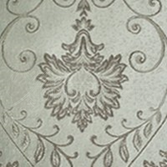 Brocade Fabric No 15 Swatch - Silver (10)