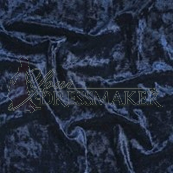 Crushed Velvet Swatch - Dark Blue (08)