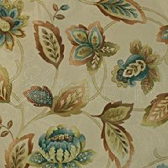 Flower Pattern Swatch - Cream (15)