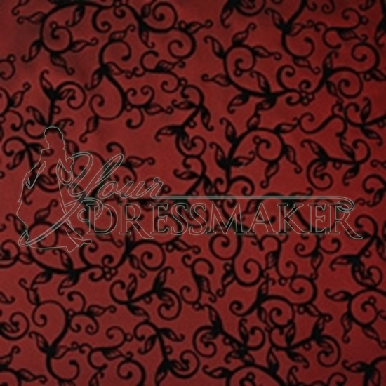 Taffeta Ornament Swatch - Red-Black (04)