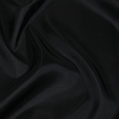 Taffeta Plain Swatch - Black (12)