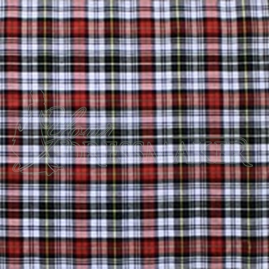 Tartan Swatch - Red-Black (05)