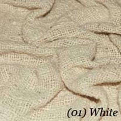 Woven Cotton Swatch - Natural White (01)