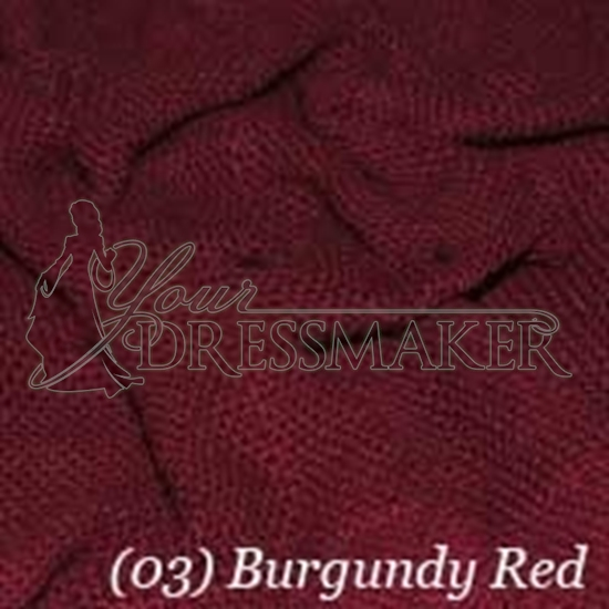 Woven Cotton Swatch - Burgundy (03)