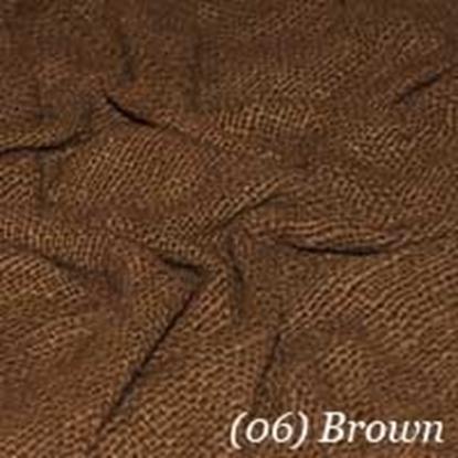 Woven Cotton Swatch - Dark Brown (06)