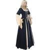 Suede and Brocade Medieval Dress