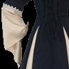 Suede and Brocade Medieval Dress