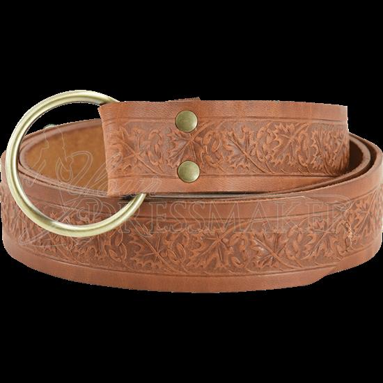 Woodland Embossed Ring Belt