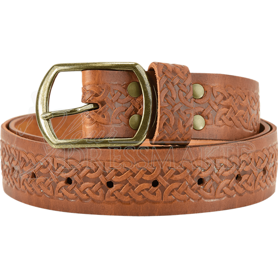 Celtic Embossed Buckle Belt