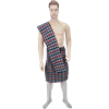 Men's Scottish Kilt with Scarf - Orange and Black - Small