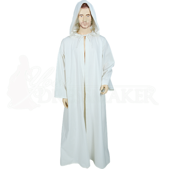 White Medieval Ritual Robe