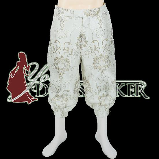 Silver Brocade Men's Renaissance Breeches